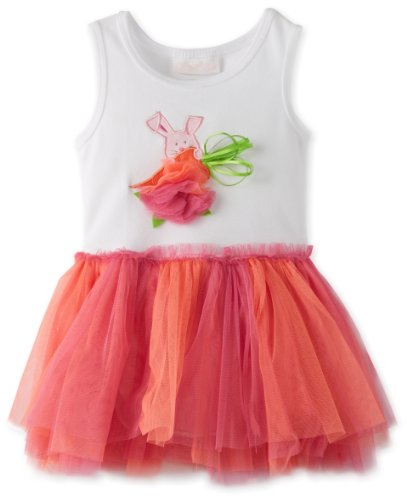 Bonnie Baby Baby-Girls Infant Carrot Tutu Dress, Orange, 12 Months front-1021742
