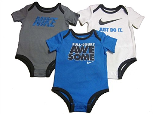 Baby Boys Nike Bodysuits 3 Pack 3/6 Months