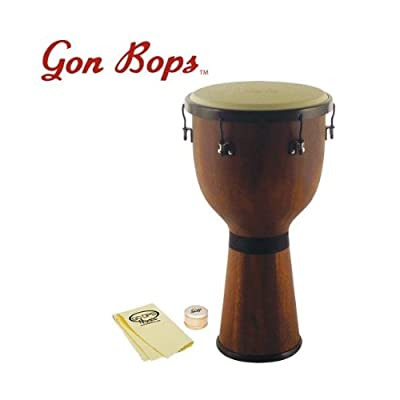 Gon Bops Mariano Series Djembe with Shaker and GoDpsMusic Polish Cloth