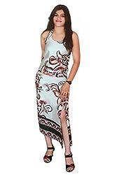 Selfi Women's Dress (JVC04_Off-White Red_40)