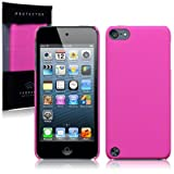 iPod Touch 5th Gen Hybrid Rubberised Back Cover / Case / Shell / Shield - Solid Hot Pinkby TERRAPIN