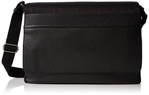 Calvin Klein - Tom Logo Messenger With Flap, Borse organizer porta tutto da uomo, black, unica