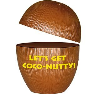 Luau Cup - Paper Novelty Coconut - Each