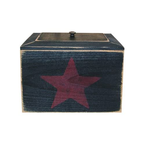 Primitive Recipe Box with Star