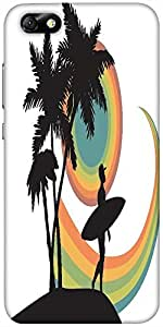 Snoogg Tropical Background Designer Protective Back Case Cover For Huawei Hon...