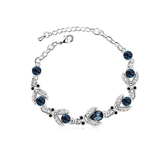 Drunk Wind Summer Beetle Crazy Cup Diamond Cool Link Bracelets (Blue)