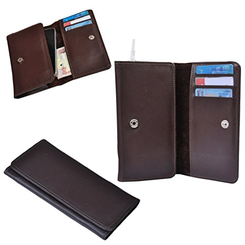 Ding Dong PU Leather Mobile Wallet Flip Pouch Case Cover For Lava iris 458Q  available at amazon for Rs.289