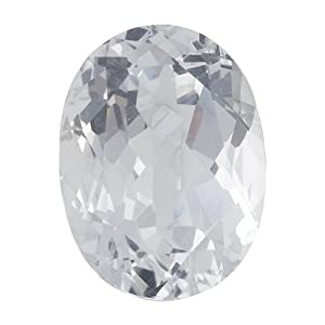 Oval 16 x 12 mm White Topaz Faceted Stone, AAA-Grade Priced Individually Jewelry Making Findings