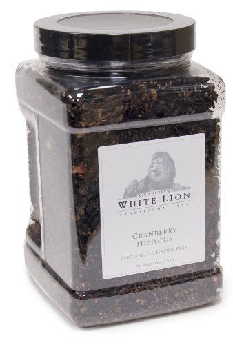 Cranberry Hibiscus Fine Herbal Tea, Loose Tea Canister, White Lion Tea