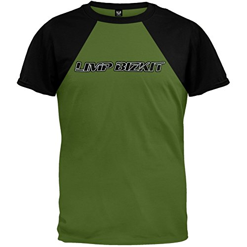 Limp Bizkit - Mens Reflective Baseball Tee - X-Large Green (Limp Bizkit Merchandise compare prices)