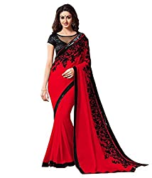 khanak export Women's Georgette Saree(KE_13_Multi-Coloured_Free Size)