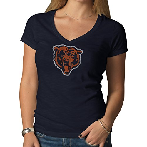 NFL Chicago Bears Women's '47 V-Neck Scrum Tee, Fall Navy, X-Large (Chicago Bears Womens Hoodie compare prices)