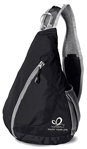 WATERFLY Packable Shoulder Backpack Sling Chest CrossBody Bag Cover Pack Rucksack for Bicycle Sport Hiking Travel Camping Bookbag Men Women (Side Backpack For Women compare prices)