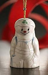 Belleek 4236 Alpine Snowman Ornament, 2.2-Inch, White by Belleek Pottery