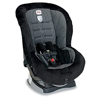 The Britax Roundabout 55 convertible car seat accommodates children rear facing from 5 to 40 pounds and forward facing from 20 to 55 pounds. The Roundabout 55 is purposefully designed and engineered to minimize the forward movement of your child's he...