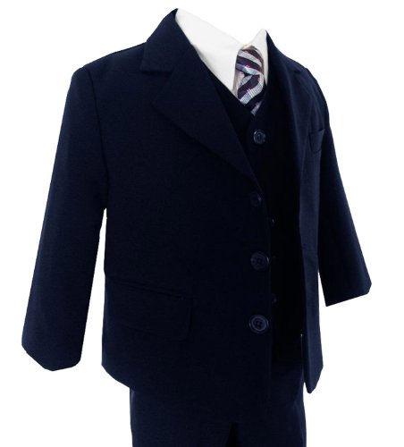 Gino Boys G230 Navy Blue Suit Set From Baby To Teens (4T) front-873696