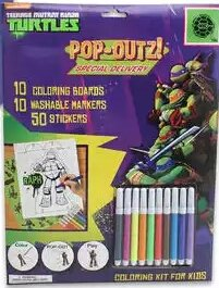 Tmnt Teenage Mutant Ninja Turtles Color Pop-out and Play Coloring Kit for Kids