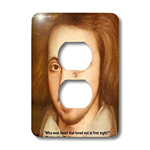 lsp_22988_6 Rick London Famous Love Quote Gifts Christopher Marlowe - Christopher Marlowe Who ever loved not at forst sight - Light Switch Covers - 2 plug outlet cover