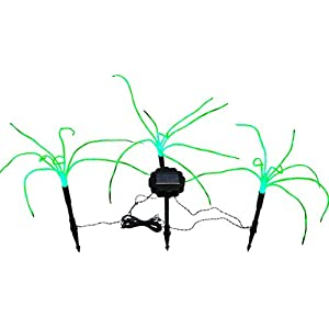 Click to buy Wild Grass Solar Garden Lights. 3 Sprigs of 1.2 Foot Tall Grass from Amazon!