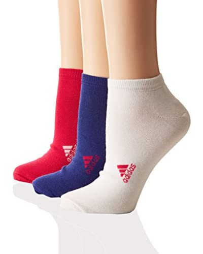 adidas Calcetines Chaussettes Blanco / Azul / Rosa
