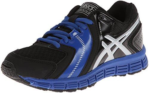 Asics Gel-Lil' Craze Training Shoe (Little Kid/Big Kid),Black/Silver/Royal,7 M US Big Kid (Lil Kids Shoes compare prices)