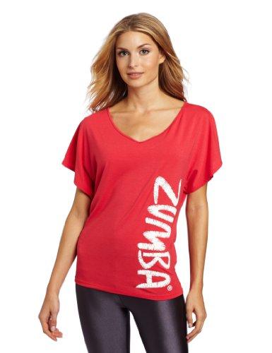 Zumba Fitness LLC Womenu0026#39;s Flaunt It Fancy Top Candy Coral X-Small/Small
