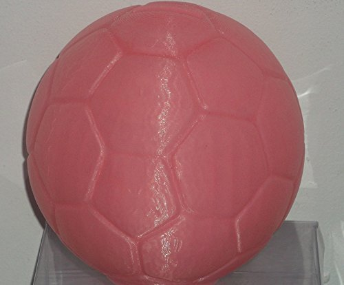 "3d Printed Pink Soccer Ball Bank with Removable Plug in a Gift Box (5""x 5""x5"") - 1"