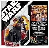 Star Wars Darth Vader Action Figure with Collectors Coin Album