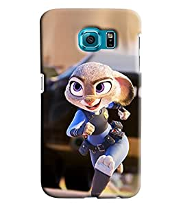 Clarks Cop Cartoon Hard Plastic Printed Back Cover/Case For Samsung Galaxy S6 Edge Plus
