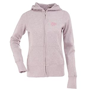 Kansas City Chiefs Ladies Zip Front Hoody Sweatshirt (Pink) by Antigua
