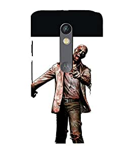 printtech Zombie Man Back Case Cover for Moto X Pure Edition