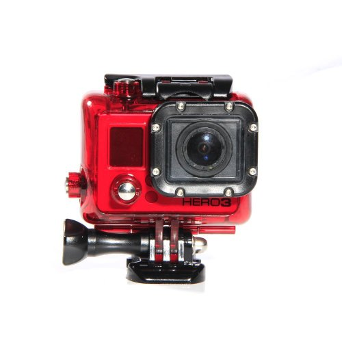Carry360 Waterproof 360Degree Protective Housing Case For Gopro Hero3 Camera(Color Red)