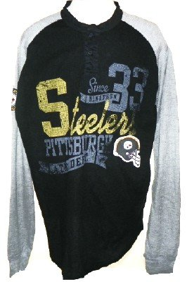 Pittsburgh Steelers NFL Shotgun Henley Shirt (Small)