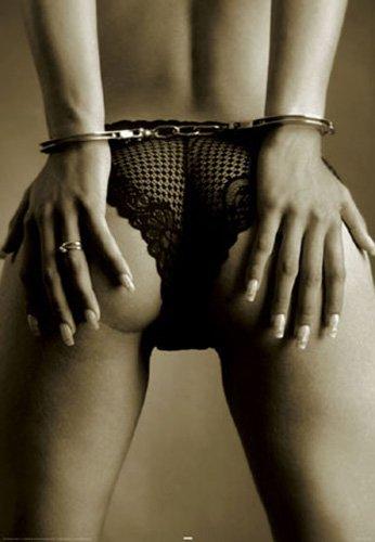 Payton, Mick - Handschellen - Akt Poster Erotik Poster Sepia nackte hot Girls schöne Frauen - Grösse 61x91,5 cm