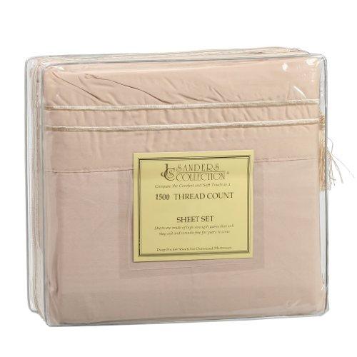 1500 Series Split King Microfiber Bed Sheet Set Cream front-611226
