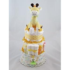 Geri Giraffe Diaper Cake, 3 Tier