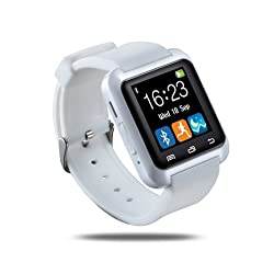 Estone Bluetooth Wrist Smart Watch with Pedometer Stopwatch Alarm for Smartphone Android Iphone - White