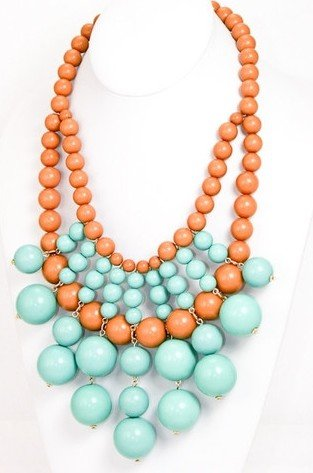 WIIPU acrylic beads links Necklace Acrylic Beaded Necklace Luxury Large Statement Fashion Jewelry