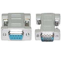 VGA Adapter, DB9 Female to HD15 Male