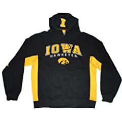 Iowa Hawkeyes Colosseum Black Yellow Embroidered Logo LS Hoodie Sweatshirt (XL) by Colosseum