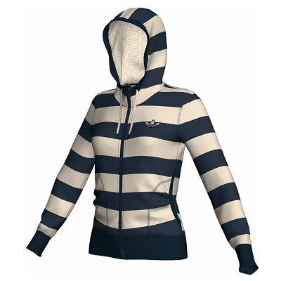 W64431|Adidas College Winter Hooded Jacket D. Navy|34