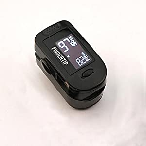 Concord BlackOx Fingertip Pulse Oximeter with Carrying Case