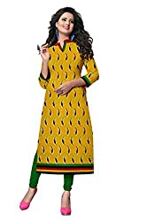 Riddhi Dresses Women's Cotton Unstitched kurti (Riddhi Dresses 21_Multi Coloured_Free Size)