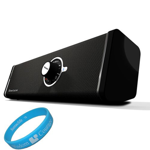 Supertooth Disco Stereo Bluetooth Speakers Includes 3.5 Mm Auxiliary Cable For Samsung Galaxy S Iii / Samsung Galaxy S Ii / Samsung Galaxy Android Smartphones + Sumaclife Tm Wisdom*Courage Wristband