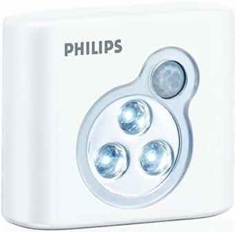 Philips SpotOn LED Motion Sensor Hands Free Light, White, One-Pack