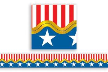 Carson Dellosa Stars and Stripes Scalloped Borders (4011)