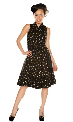 Folter Women's Golden Sparrow Retro Style Dress