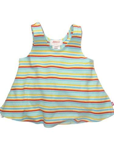 Multi-Stripe Aqua/Red Swing Top by Zutano - Buy Multi-Stripe Aqua/Red Swing Top by Zutano - Purchase Multi-Stripe Aqua/Red Swing Top by Zutano (Zutano, Zutano Apparel, Zutano Toddler Girls Apparel, Apparel, Departments, Kids & Baby, Infants & Toddlers, Girls, Shirts & Body Suits, Tank Tops)