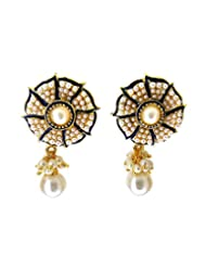 Aabhushan Jewels Gold Plated Pearl Look Earrings For Women - B00OFXSBC2