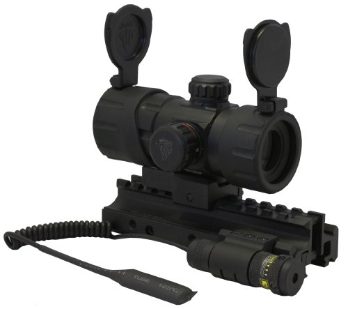 Tactical Combo Set With Trirail Mount Red Green Dot Aiming Scope For Ar15 M4 Su16 Cx4 Gsg522 Sr556 Sr22 Umarex 416 Sig552 Sig556 Fn Fs2000 Rifles Hi-point 4095 4595 9mm 45 Carbine by m1surplus